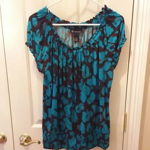 INC turquoise and black top sz XL